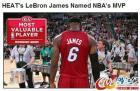 詹姆斯5年4获MVP历史第二人 仅差1票就全票当选
