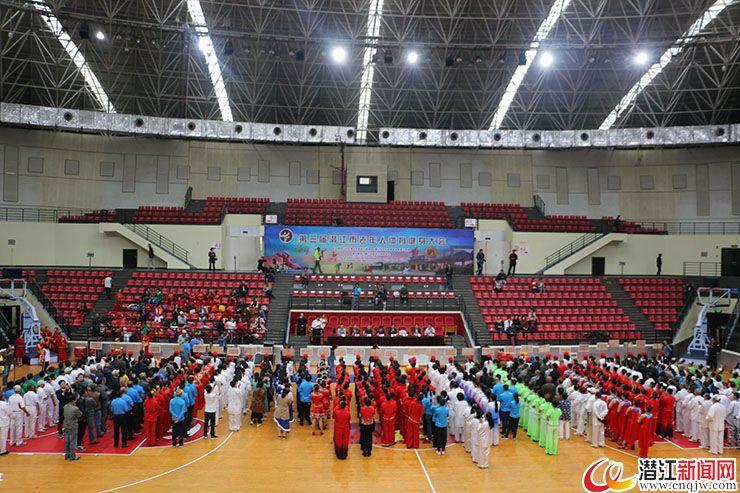 第三届潜江市老年人体育健身大会开幕