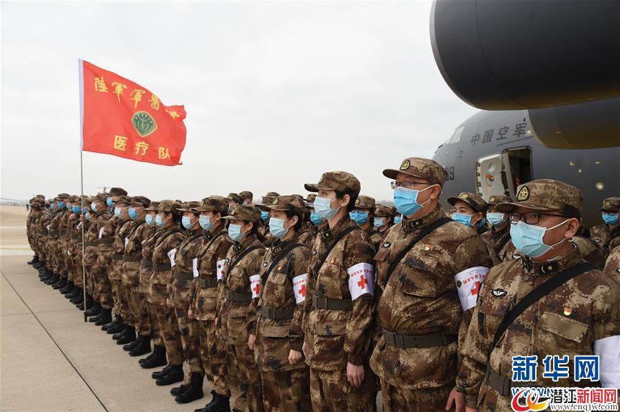 (聚焦疫情防控・图文互动)(7)空军出动3型11架运输机多地同步向武汉空运医疗队员