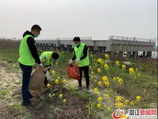 潜江经济开发区开展环保志愿服务活动